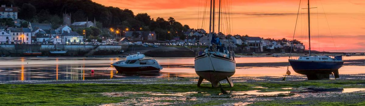 Appledore sunset in August